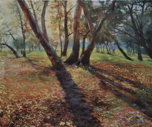 """Autumn Afternoon"" Oil on canvas  20""x24"" Selected into the National Juried Competition 2009 of American Women Artists"