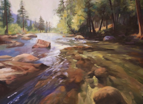 """Yosemite"" Oil on canvas  18""x24"" Accepted by National Oil and Acrylic Painters Society's  ""Masters and Signature Artists Exhibition - 2015 Spring Signature Show"""
